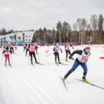Команда Александро-Невского собора на епархиальной лыжной гонке