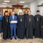 Духовенство и сотрудники собора поздравили архипастыря